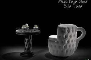 Mesa baja Oliver y Silla Taza - Budia Design